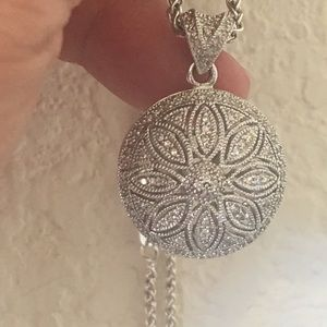 Jewelry - Sterling Silver and Diamond Necklace